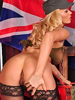 Gorgeous Squaddie Lucy Zara will have you all standing to attention in this cheeky army uniform