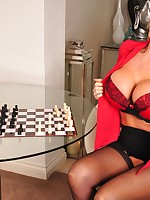 Kinky babe Lucy Zara is playing a fantasy game of strip chess
