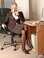Hot office babe Dannii Harwood