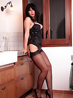 Desyra Noir Sexy German MILF In Stockings and Corset