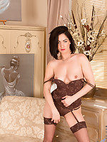 Crystall Anne in lingerie and nylon