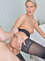 Naughty mom Samantha Jolie gets fucked hard by huge cock at work