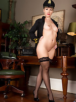 Horny mom Evey Crystal in lingerie