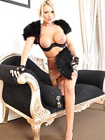 Sexy Lucy Zara looks so high classed in her vintage lingerie and is having some fun