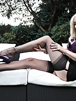 Alina Heels - Outdoor sexy FF Stockings